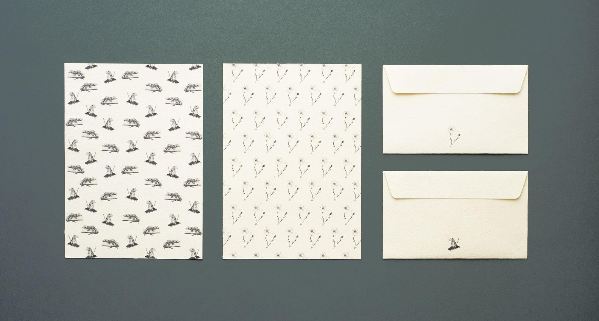 aiüo design letter and envelope